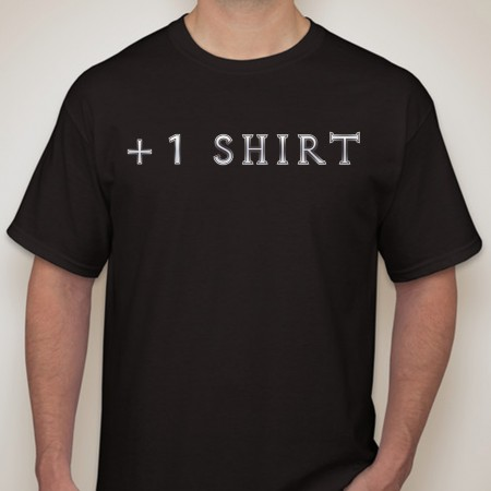 +1-Shirt-Men-Black